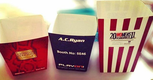 Customise Popcorn Cups Singapore