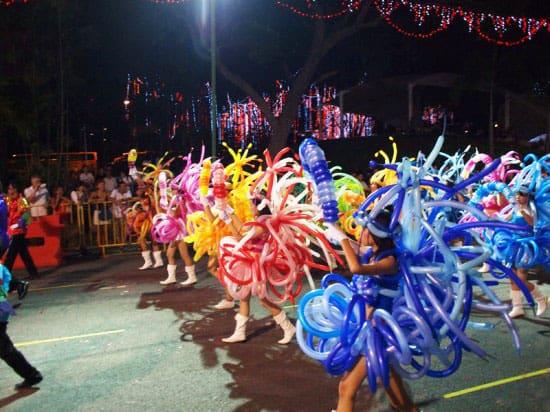 balloon dress parade