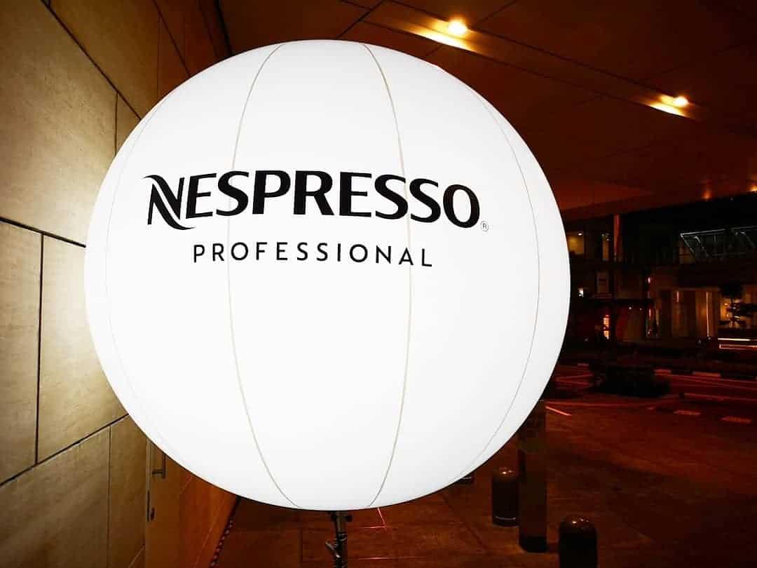 Advertising-Balloon-for-Nespresso